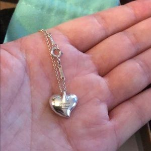Tiffany perritti collection heart necklace